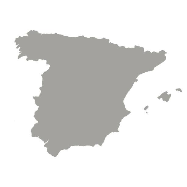 spanien karte vektor - spanien stock-grafiken, -clipart, -cartoons und -symbole