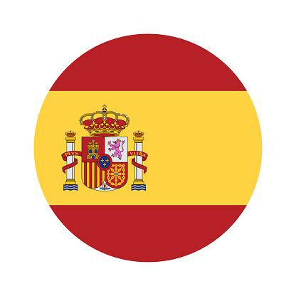 Spain - Round Flag Vector Flat Icon