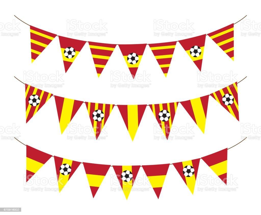 Spain soccer bunting flag - ilustración de arte vectorial