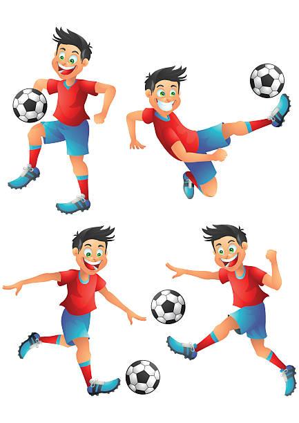 ilustrações de stock, clip art, desenhos animados e ícones de espanha personagem posando jogador de futebol - soccer supporter portrait