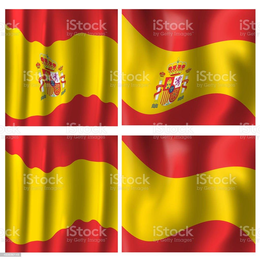 Spain, Spanish Flag royalty-free stock vector art