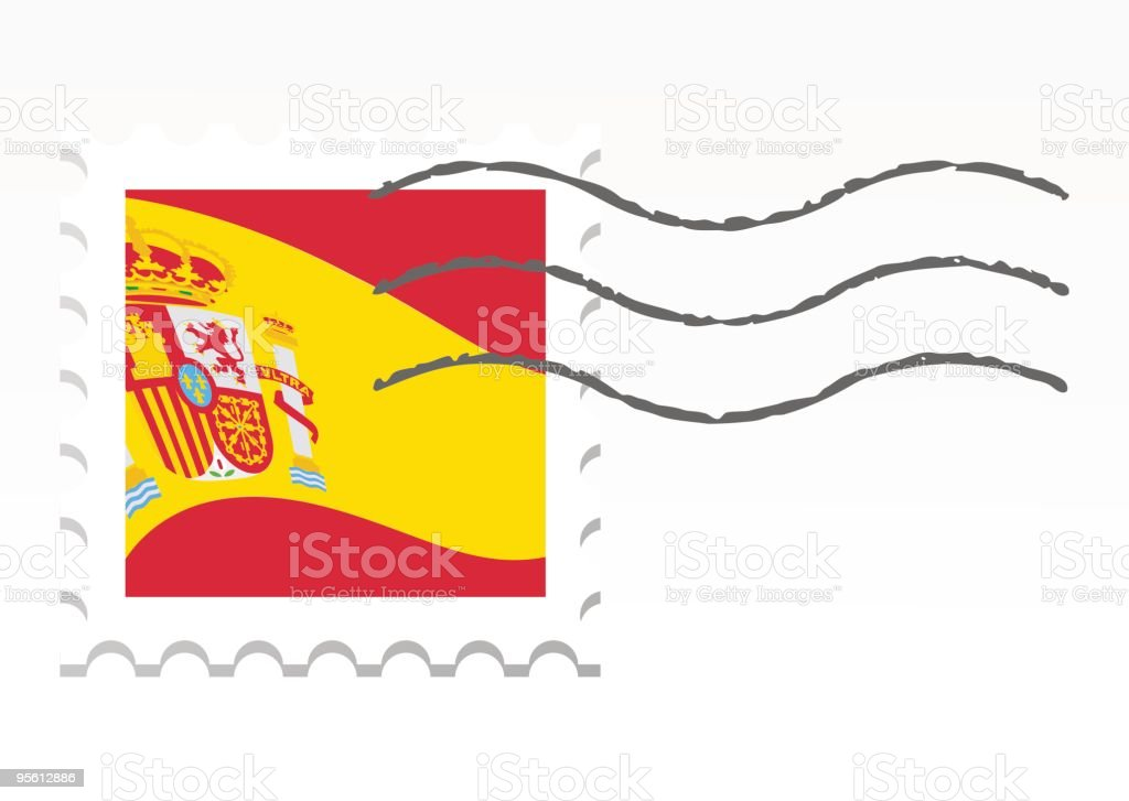 Spain stamp royalty-free stock vector art