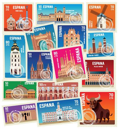 Spain Stamps, Symbols