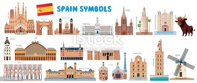 istock Spain Symbols 1255220612