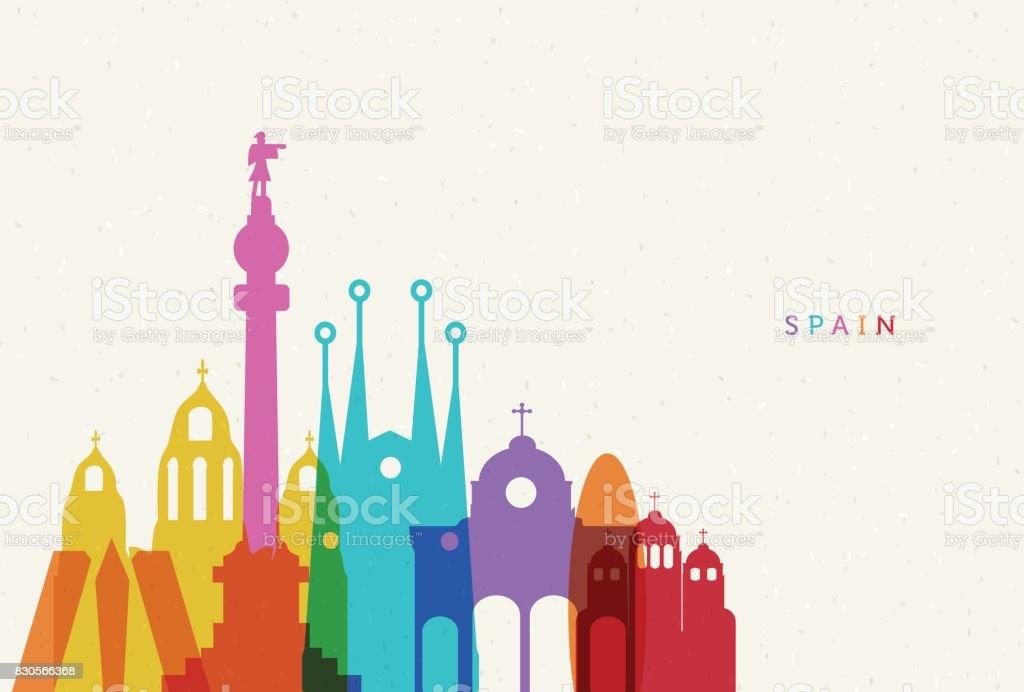 España  - ilustración de arte vectorial