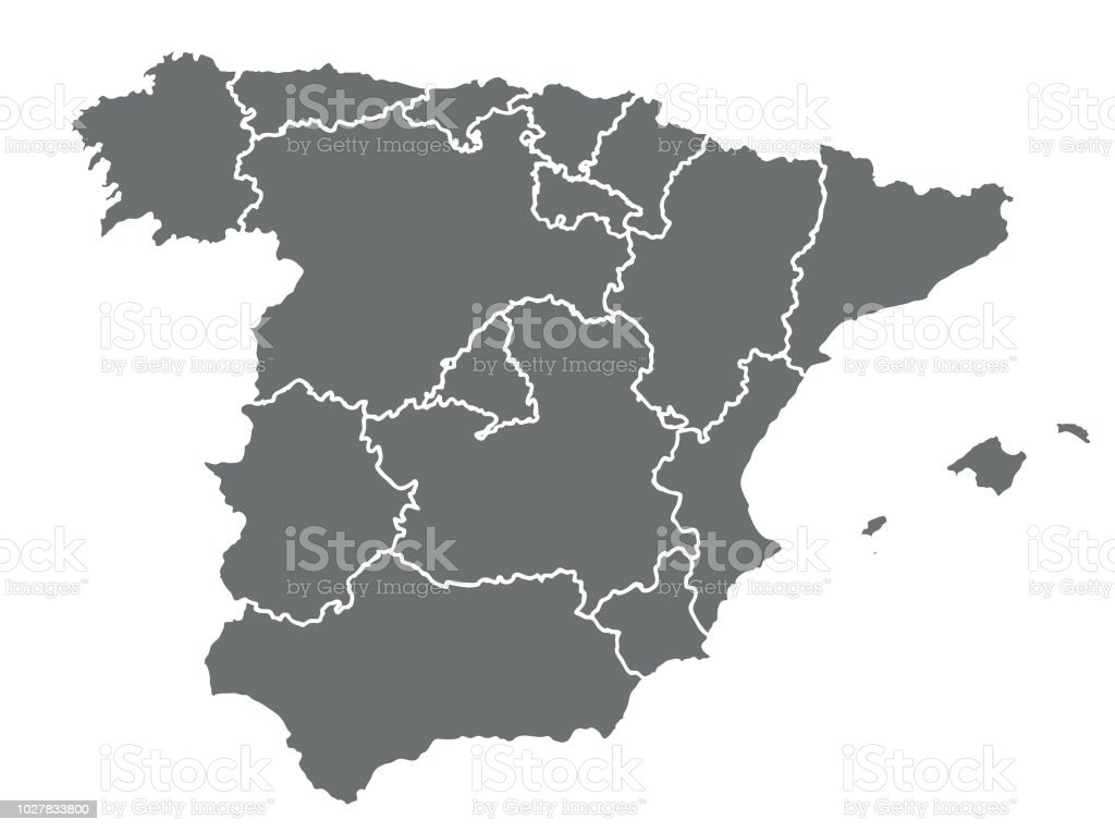Map Of Spain Vector Free.Spain Vector Map Stock Illustration Download Image Now