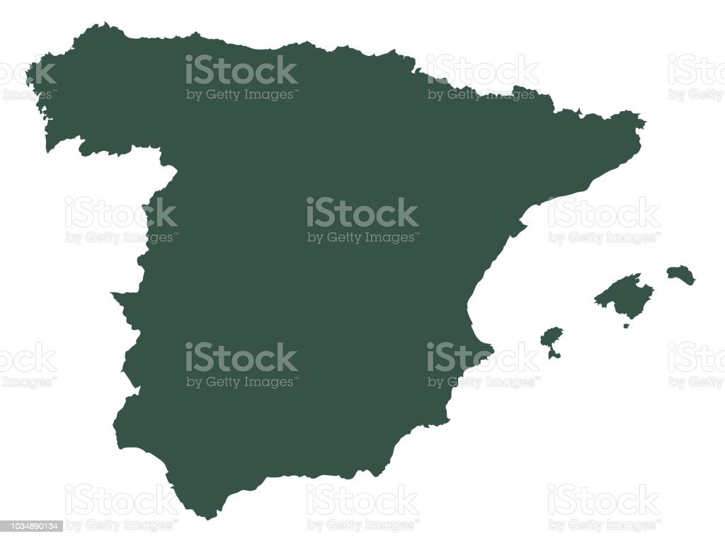 Map Of Spain In The World.Spain Vector Map Stock Vector Art More Images Of Abstract