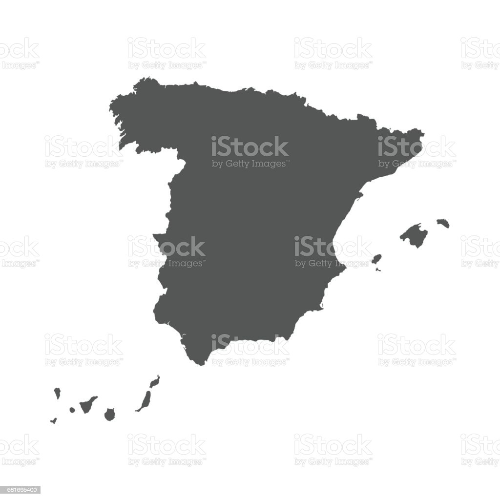 Map Of Spain Download Free.Spain Vector Map Stock Illustration Download Image Now