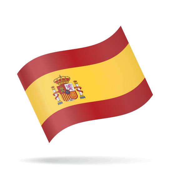 Espagne - Waving Flag Vector Glossy Icon - Illustration vectorielle