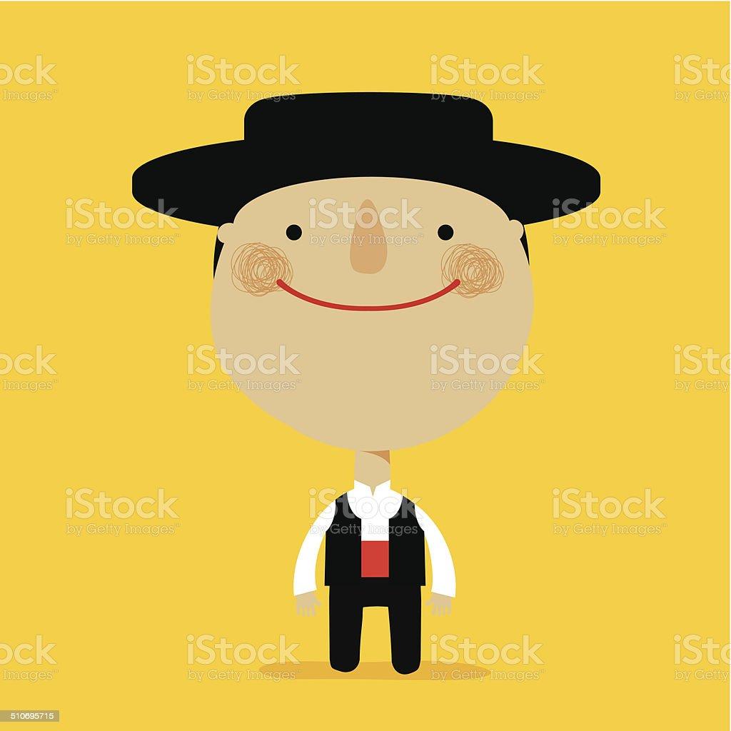 Niño español - ilustración de arte vectorial