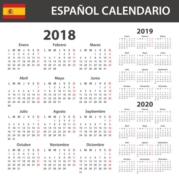 January 2020 Calendar In Spanish Best What Is January In Spanish Illustrations, Royalty Free Vector