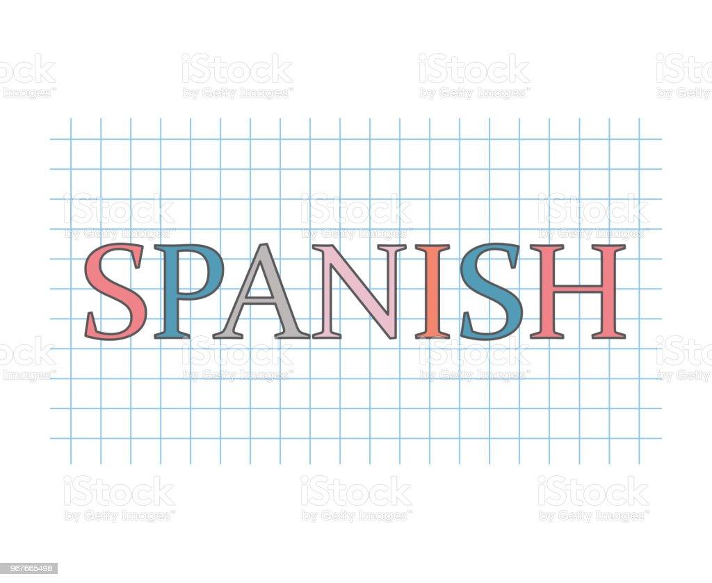 スペイン語の概念 ベクターアートイラスト