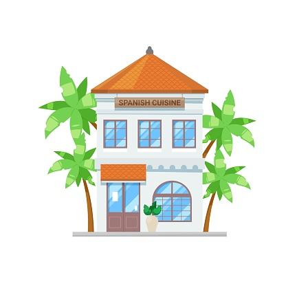 Spanish cuisine restaurant, bar or cafe building