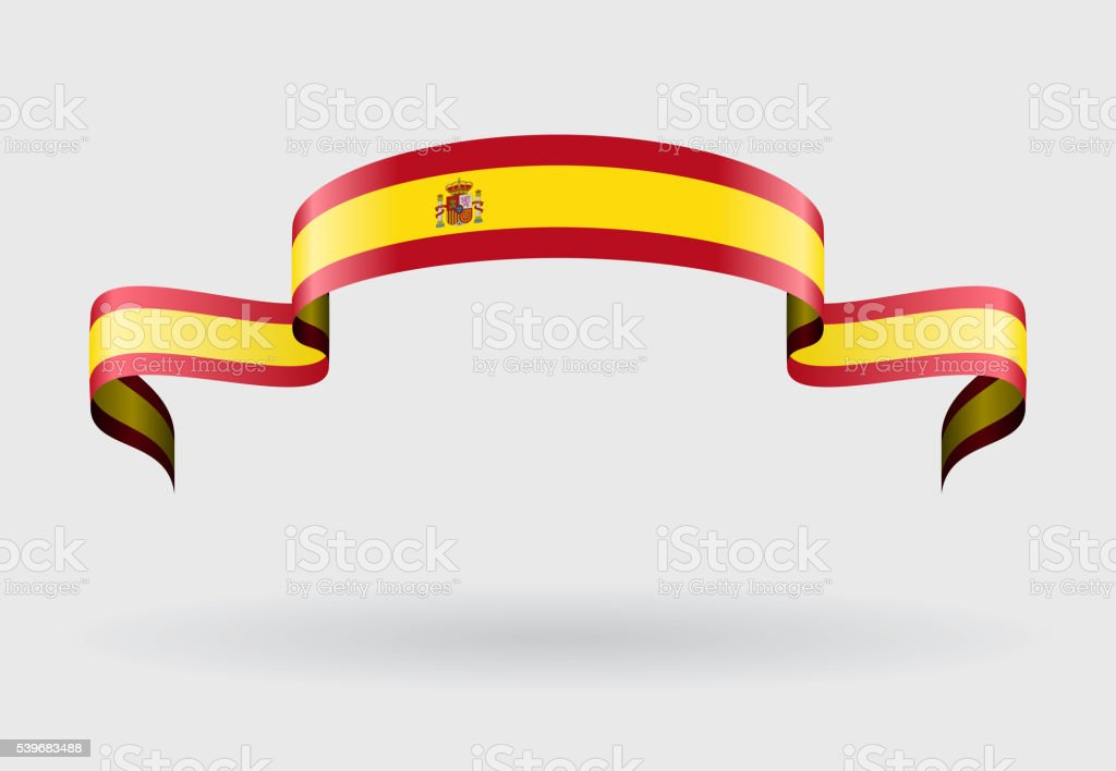 Spanish flag background. Vector illustration. vector art illustration