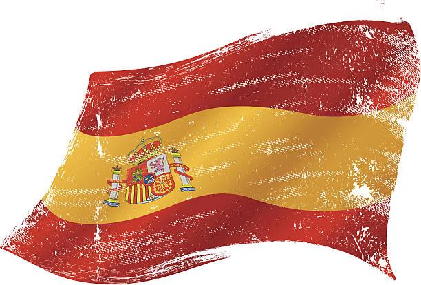 Drapeau espagnol grunge - Illustration vectorielle