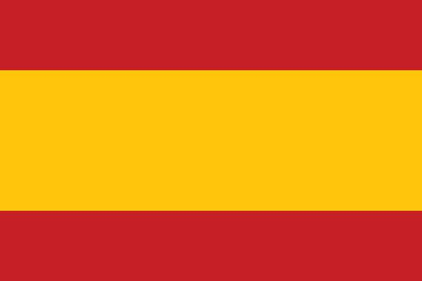 spanish flag (official colors) - spanish flag stock illustrations, clip art, cartoons, & icons