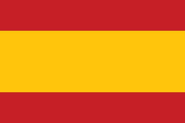 Pavillon de l'Espagne (couleurs officielles) - Illustration vectorielle