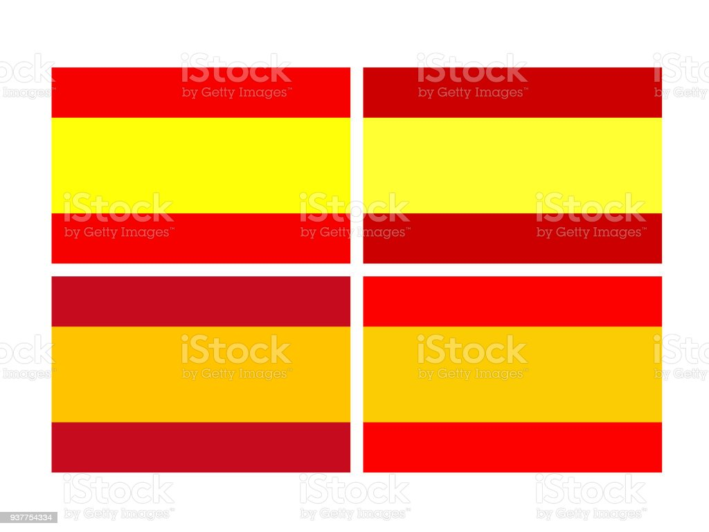 spanish flags stock vector art more images of banner sign