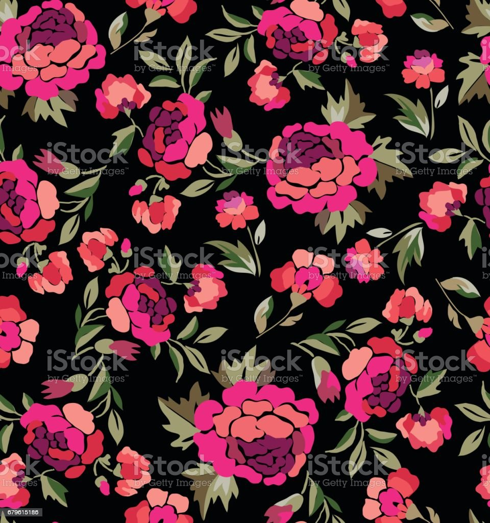 Spanish floral print seamless background stock vector art spanish floral print seamless background royalty free stock vector art voltagebd Gallery