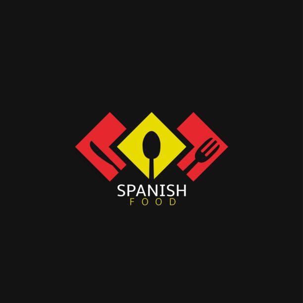 ilustraciones, imágenes clip art, dibujos animados e iconos de stock de comida española icon2 - comida española
