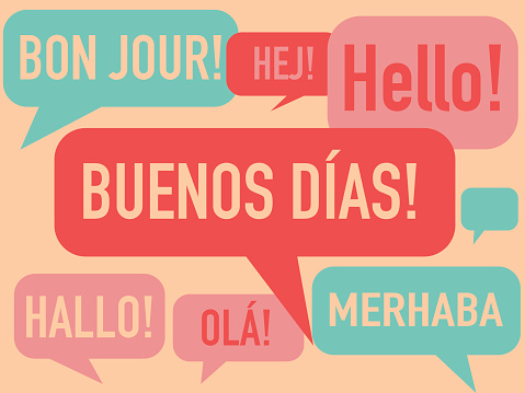 Spanish language courses concept illustration.