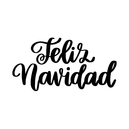 Spanish Merry Christmas - Feliz Navidad, in a trendy calligraphic style. It can be used for card, mug, brochures, poster, t-shirts, phone case etc.