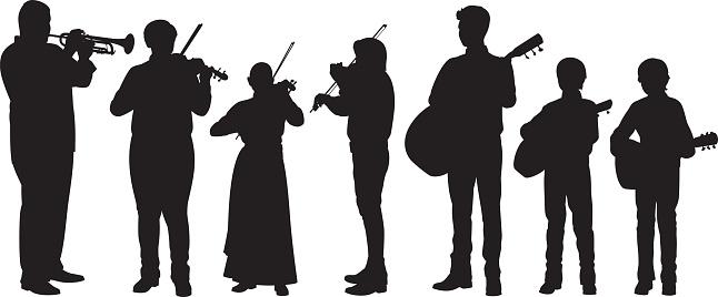 Spanish Musicians Silhouettes