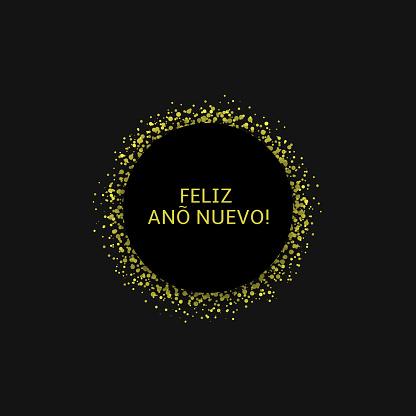 Spanish New Year label4
