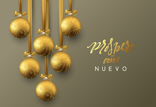 Spanish Prospero ano Nuevo. Merry Christmas.