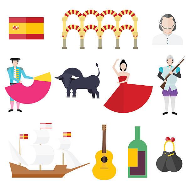 stockillustraties, clipart, cartoons en iconen met spanish symbols - castagnetten