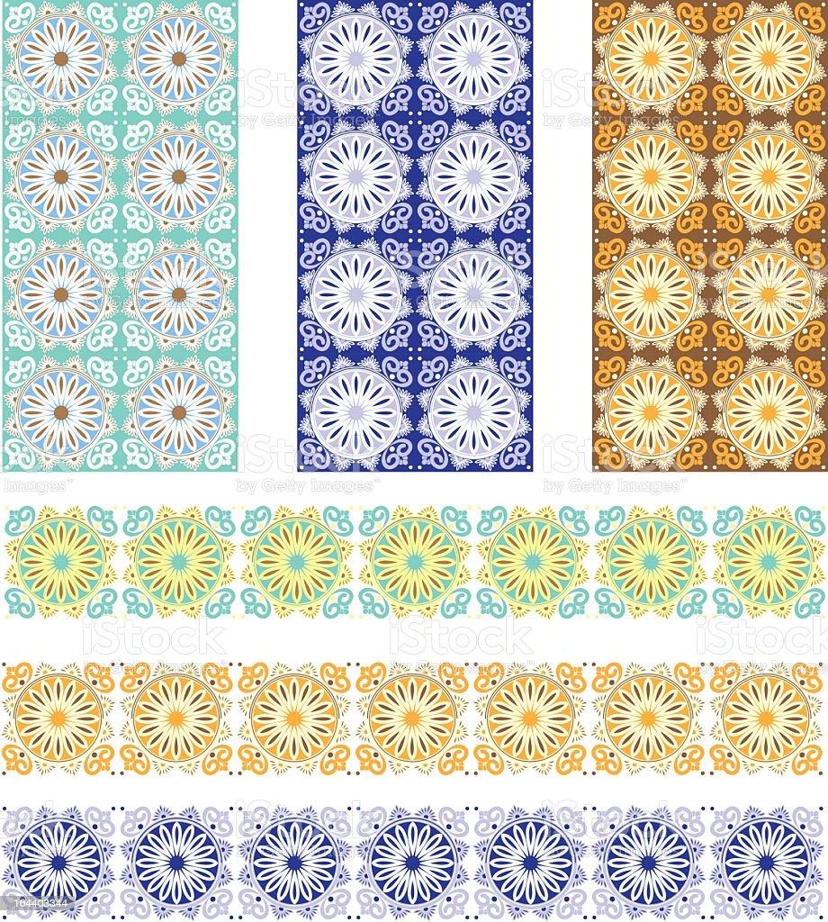 Spanish Tile designs royalty-free stock vector art