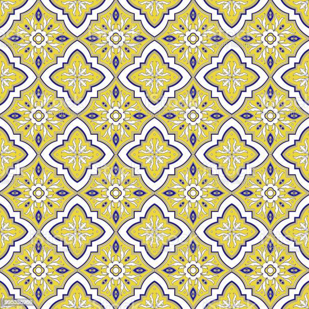 Spanish tile pattern vector seamless with flower ornaments portuguese vector id995338986?b=1&k=6&m=995338986&s=612x612&h=da8hk mx3tvd9zsnjwgr7c oesp8ahirxqjxeb5g4r0=