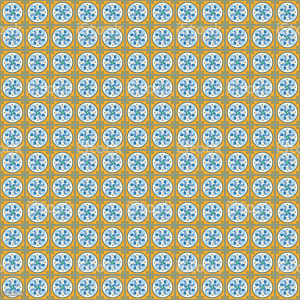 Spanish Tile royalty-free spanish tile stock vector art & more images of blue