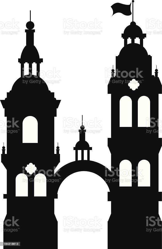 Spanish Towers royalty-free stock vector art