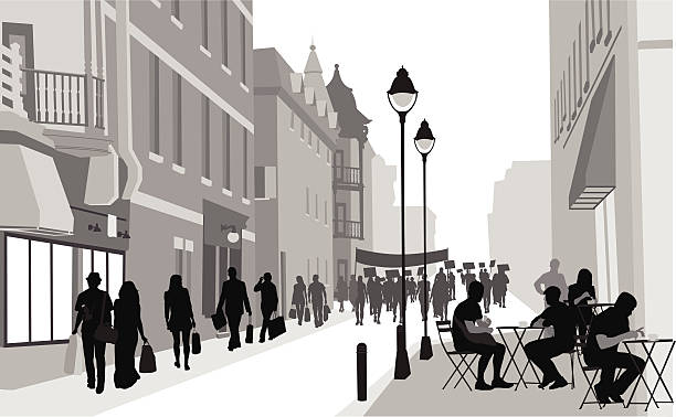 SpanishStreet vector art illustration