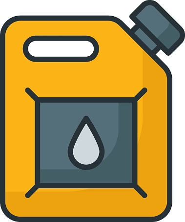 Spare gas barrels Concept, emergency fuel tank Vector Color Icon Design, Motor Vehicle Service and automobile repair shop Symbol, Lorry spare parts Sign, auto mechanic stock illustration
