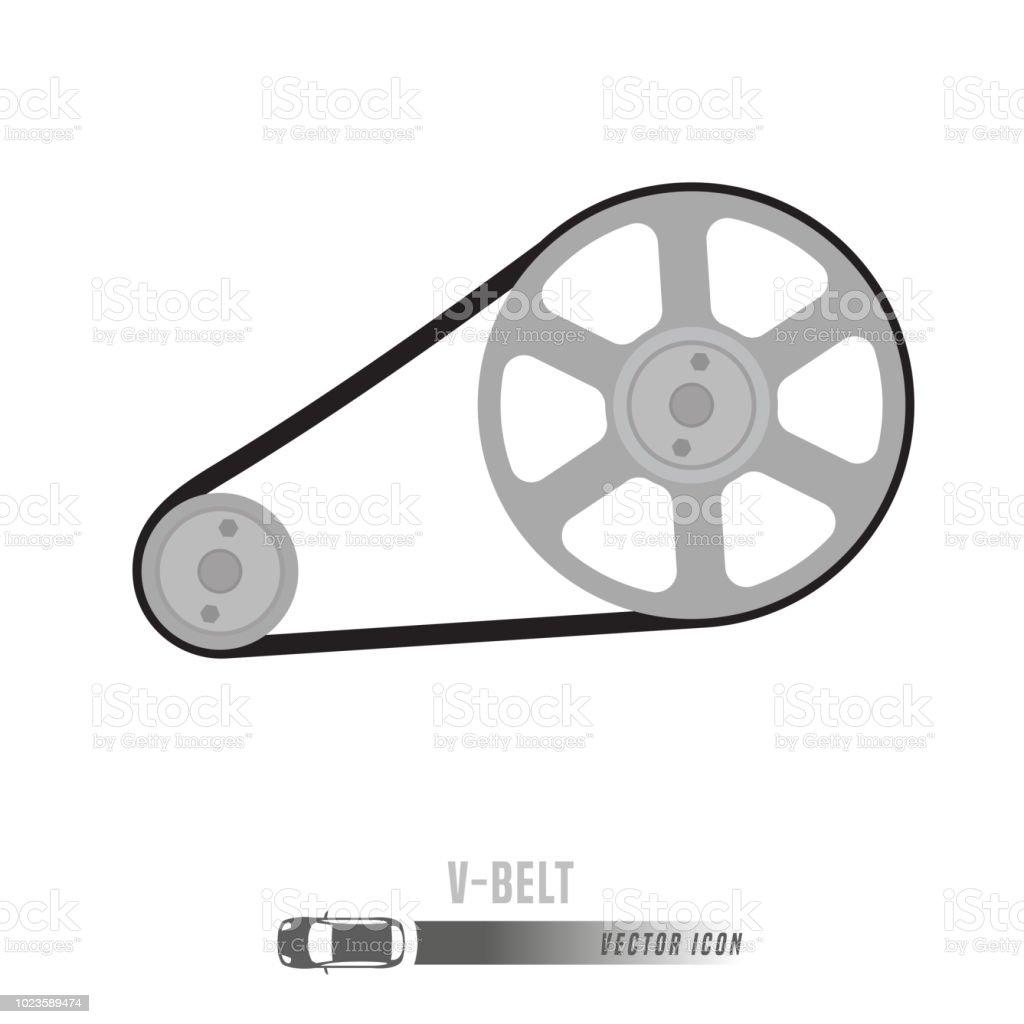 Spare Parts Icon vector art illustration