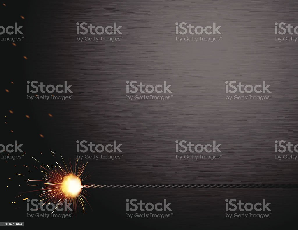 Spark Brushed Steel vector art illustration