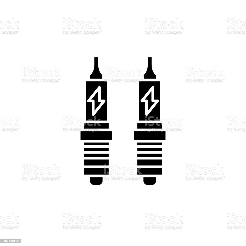 Royalty Free Spark Plug Symbol Ignition Screw Clip Art Vector