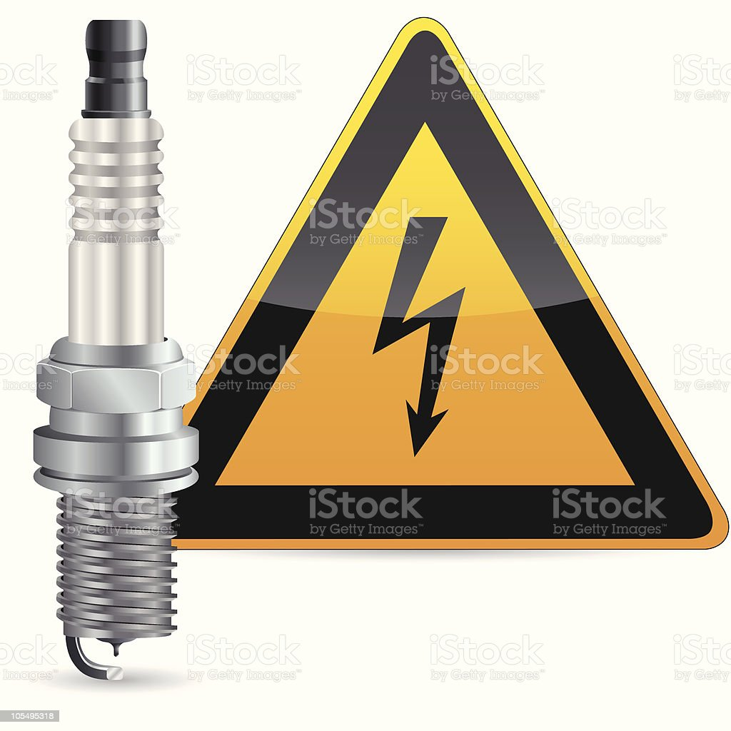 Spark Plug Stock Vector Art & More Images of Color Image