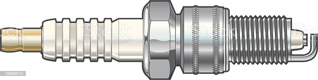 Spark Plug vector art illustration