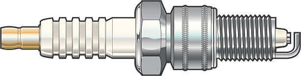 Spark Plug vector art illustration