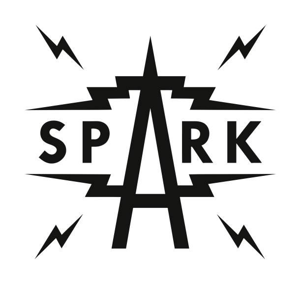 스파크 - lightning stock illustrations