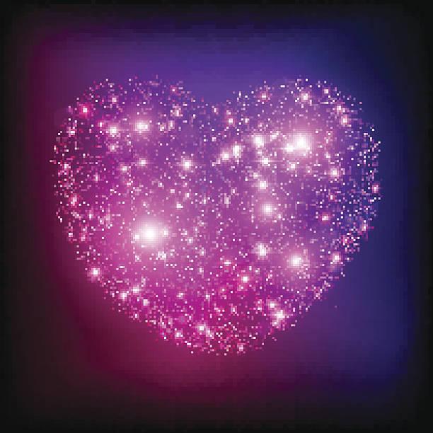 ilustraciones, imágenes clip art, dibujos animados e iconos de stock de chispa de color rosa brillante corazón. - sparks