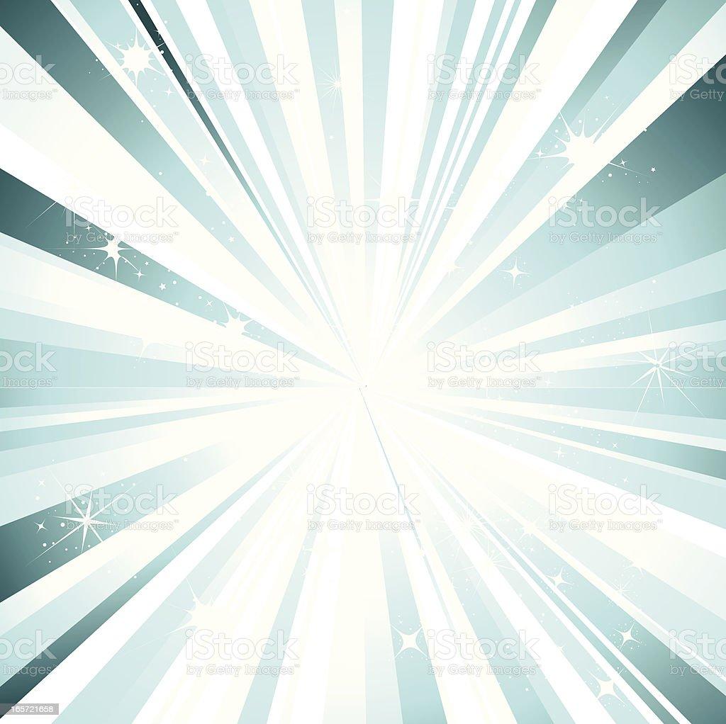 Sparkle Burst in Turquoise vector art illustration