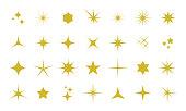 Sparkles icon set