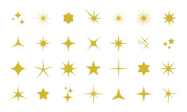 Sparkle icon set Sparkles icon set star stock illustrations