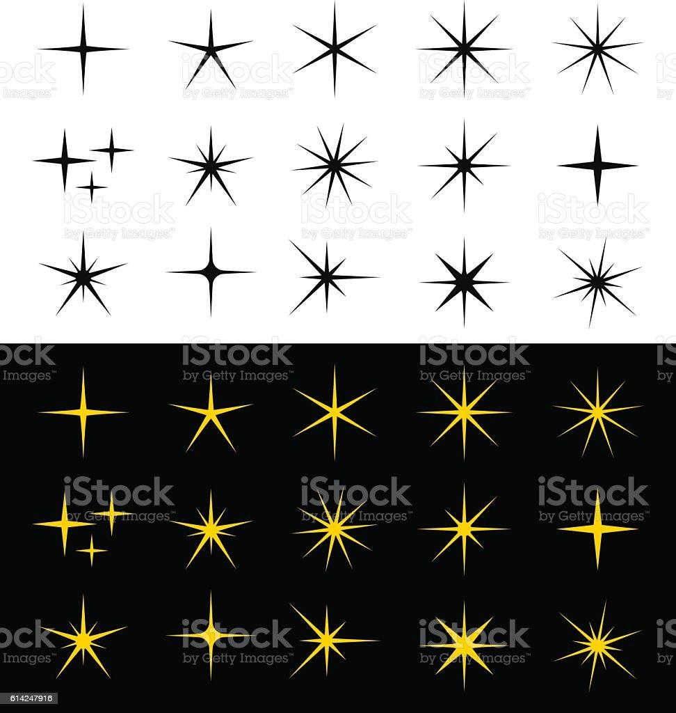 Sparkle Icons - Illustration vector art illustration