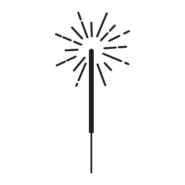 sparkler beam icon vector illustration sparkler stock illustrations
