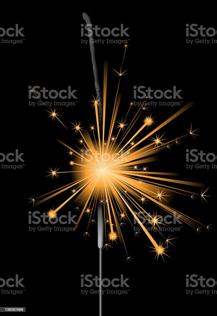 sparkler royalty-free stock vector art